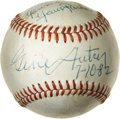 """Movie/TV Memorabilia:Autographs and Signed Items, Gene Autry Signed Baseball to Buddy Ebsen, with Letter. A Rawlingsbaseball inscribed """"To Buddy. Thanks for your support. Yo...(Total: 1 Item)"""