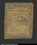 Colonial Notes:Continental Congress Issues, February 17, 1776, $1/2, Continental Congress Issue, CC-21, ...