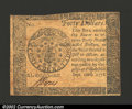 Colonial Notes:Continental Congress Issues, September 26, 1778, $40, Continental Congress Issue, CC-84, XF+...