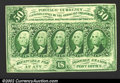 Fractional Currency:First Issue, First Issue 50c, Fr-1312, CU. This is the straight edge with ...