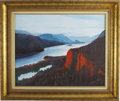 "Movie/TV Memorabilia:Original Art, Buddy Ebsen Columbia River Painting. A 30"" x 24"" acrylicoriginal portrait of a stretch of the scenic Columbia R... (Total:1 Item)"