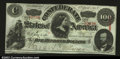 Confederate Notes:1863 Issues, T56 $100 1863. A decent example that is fully Crisp ...