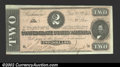 Confederate Notes:1864 Issues, 1864 $2 Judah P. Benjamin, T-70, CU. A bright $2 note that is t...