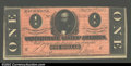 Confederate Notes:1864 Issues, T71 $1 1864. A deep red tint enhances the eye appeal of ...