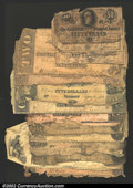 Confederate Notes:Group Lots, A miscellaneous group of low grade Confederates. A historical ...