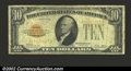Small Size:Gold Certificates, 1928 $10 Gold Certificate, Fr-2400, Fine. ...