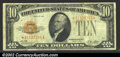 Small Size:Gold Certificates, Fr. 2400* $10 1928 Gold Certificate. Fine+.A pleasing Gol...