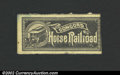 Obsoletes By State:New Hampshire, Concord Horse Railroad Fare Scrip, Concord, NH, VF, with a ...