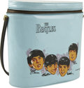 "Music Memorabilia:Memorabilia, Beatles Vintage Brunch Bag. A rare Beatles vinyl brunch bagmanufactured in the mid-'60s by Aladdin, measuring 8"" in height ...(Total: 1 Item)"
