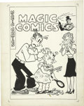 Original Comic Art:Covers, Joe Musial - Magic Comics #104 Blondie Cover Original Art (DavidMcKay, 1948).... (Total: 2 Items)