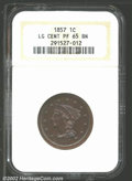 Proof Large Cents: , 1857 1C PR 65 Brown NGC. ...