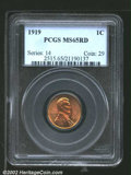"Lincoln Cents: , 1919 1C MS65 Red PCGS. The latest Coin World ""Trends"" price ..."
