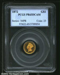 Proof Gold Dollars: , 1872 $1 PR 65 Deep Cameo PCGS. The current Coin Dealer ...
