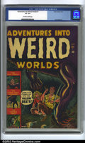Golden Age (1938-1955):Horror, Adventures Into Weird Worlds #1 (Atlas, 1952) CGC VF 8.0 Off-whiteto white pages. Pre-code horror has become one of the pre...