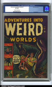 Adventures Into Weird Worlds #1 (Atlas, 1952) CGC VF 8.0 Off-white to white pages. Pre-code horror has become one of the...