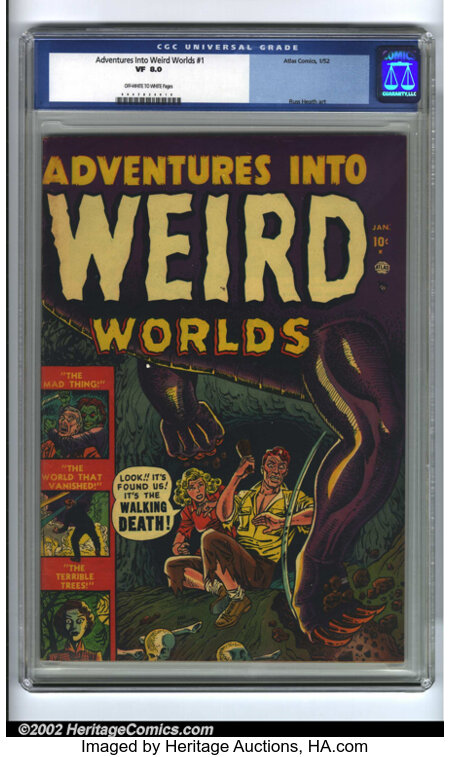 Adventures Into Weird Worlds #1 (Atlas, 1952) CGC VF 8.0 Off-white to white pages. Pre-code horror has become one of the pre...