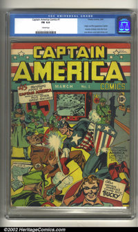Captain America Comics #1 (Timely, 1941) CGC FN 6.0 Cream pages. Featuring the origin and first appearance of Captain Am...