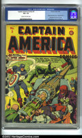 Golden Age (1938-1955):Superhero, Captain America Comics #3 (Timely, 1941) CGC VG+ 4.5 Cream to off-white pages. One of only three yellow books in the run, th...