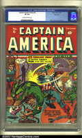 Golden Age (1938-1955):Superhero, Captain America Comics #6 Allentown pedigree (Timely, 1941) CGC VF 8.0 Cream to off-white pages. Collectors already familiar...