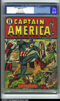Golden Age (1938-1955):Superhero, Captain America Comics #11 (Timely, 1942) CGC FN/VF 7.0 Cream to off-white pages. The ultimate patriotic hero appears here w...