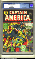 Golden Age (1938-1955):Superhero, Captain America Comics #12 Chicago pedigree (Timely, 1942) CGC VF/NM 9.0 Off-white pages. Wow! One look at this one and you ...