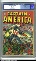 Golden Age (1938-1955):Superhero, Captain America Comics #22 Chicago pedigree (Timely, 1943) CGC NM 9.4 Off-white pages. These so rarely turn up in NM conditi...