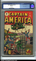 Golden Age (1938-1955):Superhero, Captain America Comics #44 (Timely, 1945) CGC NM 9.4 Off-white pages. Captain America and Bucky do battle against ne'er-do-w...