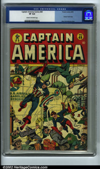 Captain America Comics #49 (Timely, 1945) CGC VF 8.0 Cream to off-white pages. Here is yet another solid VF Cap with a g...
