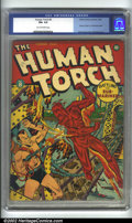 Golden Age (1938-1955):Superhero, Human Torch Comics #8 (Timely, 1942) CGC FN+ 6.5 Tan to off-white pages. Human Torch battles the Sub-Mariner in this key iss...