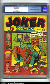 Joker Comics #1 (Timely, 1942) CGC FN/VF 7.0 Off-white pages. This issue is the first appearance of Powerhouse Pepper by...
