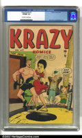 Golden Age (1938-1955):Humor, Krazy Komics #1 (2nd series) (Timely, 1948) CGC VF/NM 9.0 Off-white to white pages. Basil Wolverton and Harvey Kurtzman did ...
