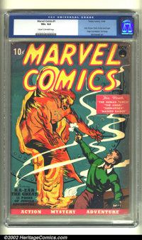 Marvel Comics #1 (Timely, 1939) CGC VG+ 4.5 Cream to off-white pages. The book that started it all! Everything you've ev...