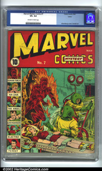 Marvel Mystery Comics #7 Larson pedigree (Timely, 1940) CGC VF+ 8.5 Off-white to white pages. The first ten issues of Ma...