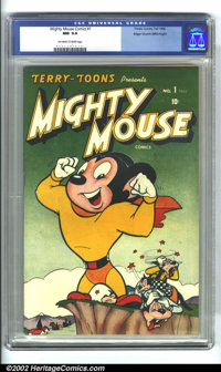 Mighty Mouse Comics #1 Mile High pedigree (Timely, 1946) CGC NM 9.4 Off-white pages. Only the Mile High copy could be th...