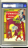 Golden Age (1938-1955):Superhero, Motion Picture Funnies Weekly #1 (First Funnies, Inc., 1939) CGC FN/VF 7.0 Light tan to off-white pages. Featuring the first...
