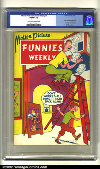 Motion Picture Funnies Weekly #1 (First Funnies, Inc., 1939) CGC FN/VF 7.0 Light tan to off-white pages. Featuring the f...