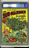 Golden Age (1938-1955):Superhero, Sub-Mariner Comics #1 Larson pedigree (Timely, 1941) CGC VF/NM 9.0 Off-white to white pages. Alex Schomburg brings another c...