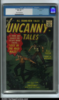 Golden Age (1938-1955):Horror, Uncanny Tales #55 Circle 8 pedigree (Atlas, 1957) CGC VF+ 8.5 Creamto off-white pages. This is a very pretty copy with full...