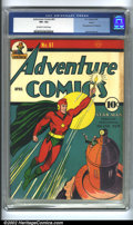 Golden Age (1938-1955):Superhero, Adventure Comics #61 Larson pedigree (DC, 1941) CGC VF+ 8.5 Off-white to white pages. Featuring the first appearance of Star...