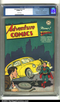 "Adventure #103 ""D"" pedigree (DC, 1946) CGC VF/NM 9.0 Off-white pages. Some minor foxing along the top of the b..."