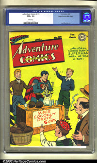 Adventure Comics #119 Mile High pedigree (DC, 1947) CGC NM+ 9.6 White pages. This book has it all! It's Mile High, it's...