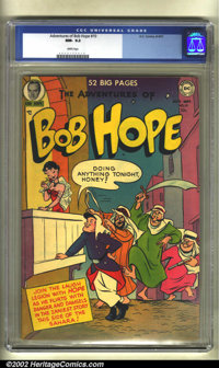 The Adventures of Bob Hope #10 (DC, 1951) CGC NM- 9.2 White pages. The brilliant white pages and super high grade make t...