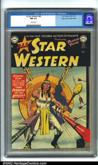 All Star Western #62 Mile High pedigree (DC, 1951) CGC NM 9.4 White pages. Sensing a change in the air, DC switched two...