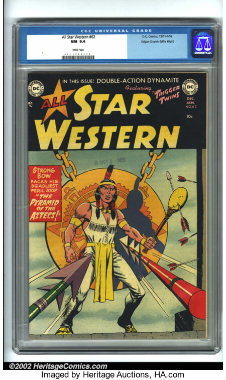 All Star Western #62 Mile High pedigree (DC, 1951) CGC NM 9.4 White pages. Sensing a change in the air, DC switched two of i...