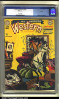 Golden Age (1938-1955):Western, All-American Western #108 Hawkeye pedigree (DC, 1949) CGC NM 9.4Off-white pages. Alex Toth contributed some incredible artw...