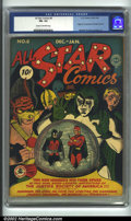 Golden Age (1938-1955):Superhero, All-Star Comics #8 (DC, 1942) CGC FN- 5.5 Cream to off-white pages. Early All Star Comics issues are always jam-packed with ...