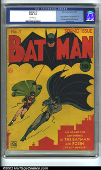 Batman #1 (DC, 1940) CGC GD/VG 3.0 Off-white pages. Batman #1 needs no introduction or hype, since every fan of comics k...