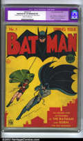 Golden Age (1938-1955):Superhero, Batman #1 (DC, 1940) CGC Apparent VF 8.0 Moderate (P) Cream to off-white pages. Batman has retained his place as one of the ...