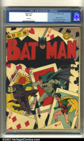 Golden Age (1938-1955):Superhero, Batman #11 (DC, 1942) CGC VF+ 8.5 White pages. Generally considered as an all-time favorite cover among Batman collectors, t...