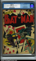 Golden Age (1938-1955):Superhero, Batman #11 (DC, 1942) CGC FN/VF 7.0 Cream to off-white pages. One of the most requested issues from the run, this one has a ...